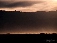 Death Valley, Sunset,  Dust Storm 1, 2007